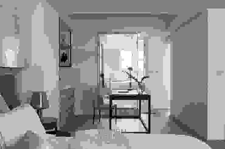 Dormitorios de estilo  de 湘頡設計,