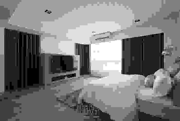 採光良好的主臥房 根據 湘頡設計 簡約風