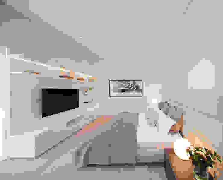 GLR Arquitectos Minimalist bedroom White
