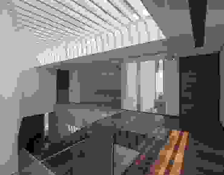 Modern corridor, hallway & stairs by Global Woods Modern Wood Wood effect