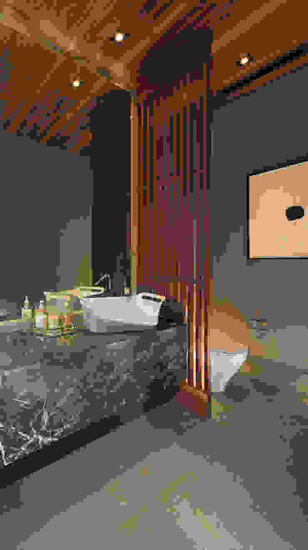 모던스타일 욕실 by GLR Arquitectos 모던 대리석