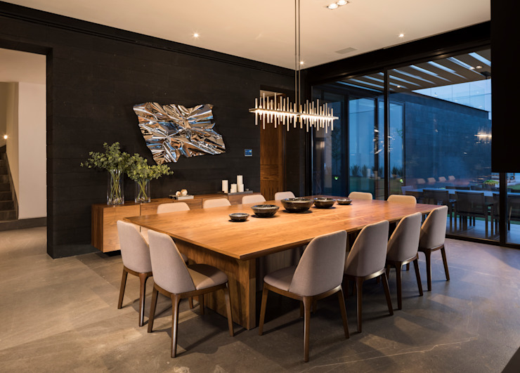 Modern Dining Room by GLR Arquitectos Modern Wood Wood effect