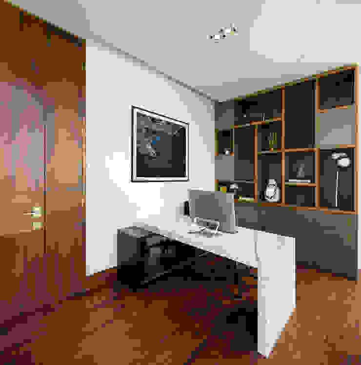 모던스타일 서재 / 사무실 by GLR Arquitectos 모던 우드 우드 그레인