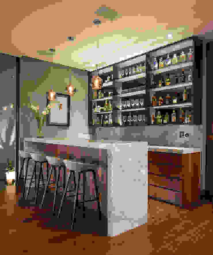 GLR Arquitectos Wine cellar Marble Grey