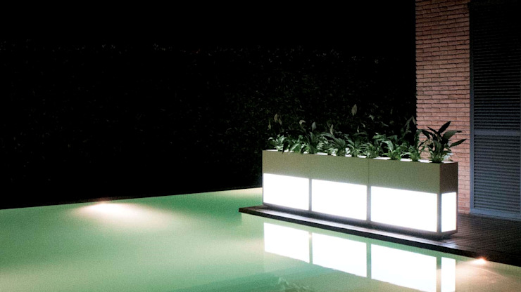 Backlit Planters: modern  by Atria Designs Inc.,Modern
