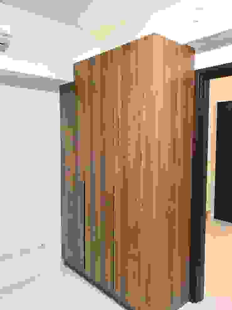 臥室衣物收納 根據 圓方空間設計 簡約風 合板
