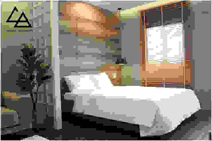 Bedroom Phòng ngủ phong cách Bắc Âu bởi G.A Studio Bắc Âu