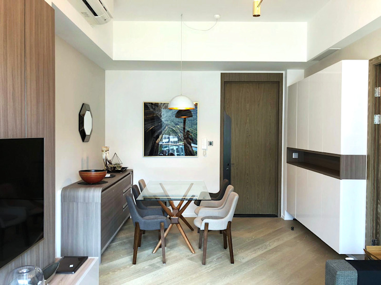 Mount Pavilia 傲瀧 | Clear Water Bay 西貢清水灣 | Hong Kong Modern dining room by Nelson W Design Modern