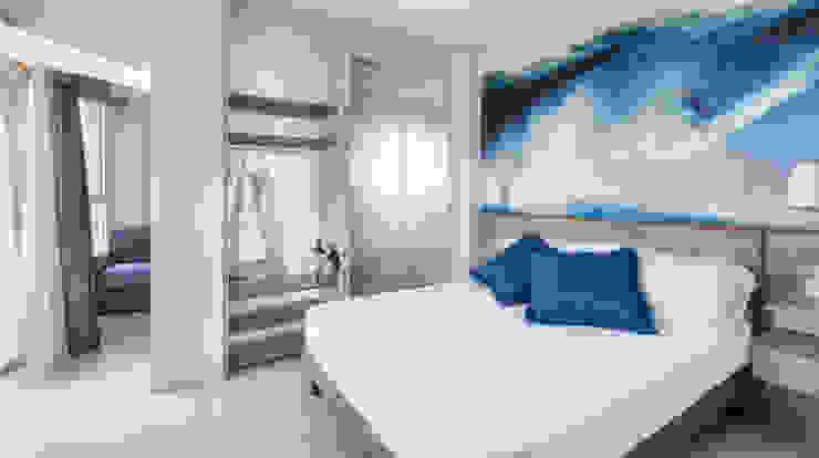 Hotel Meeting Riccione POLISTUDIO A.E.S. Camera da letto minimalista