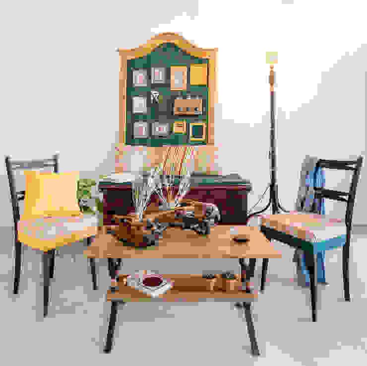Ambiente generado con las piezas de la colección Patricia wood, diseño de espacios y mobiliario Comedores de estilo rústico