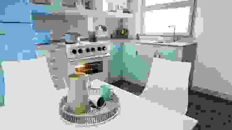 Mid Century Modern Kitchen by Zero Point Visuals Classic