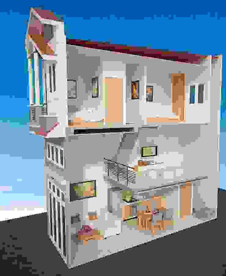 Thiết Kế Nhà Ống 2 Tầng có gác lửng diện tích 70 m2 bởi Công Ty Wedo
