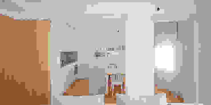 Salón / Cocina / Comedor homify Comedores de estilo escandinavo Ladrillos Blanco