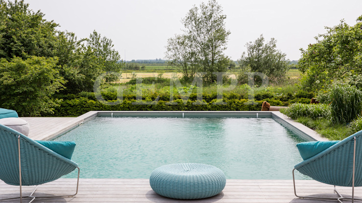 Wellnesgarten mit Swimmingpool GEMPP GARTENDESIGN - Gartenplanung Gartengestaltung Landschaftsbau Moderner Garten