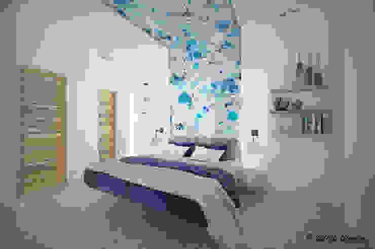 地中海スタイルの 寝室 の Nocera Kathia rendering progettazione e design 地中海