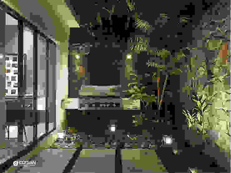 Minimalist balcony, veranda & terrace by CODIAN CONSTRUCTORA Minimalist