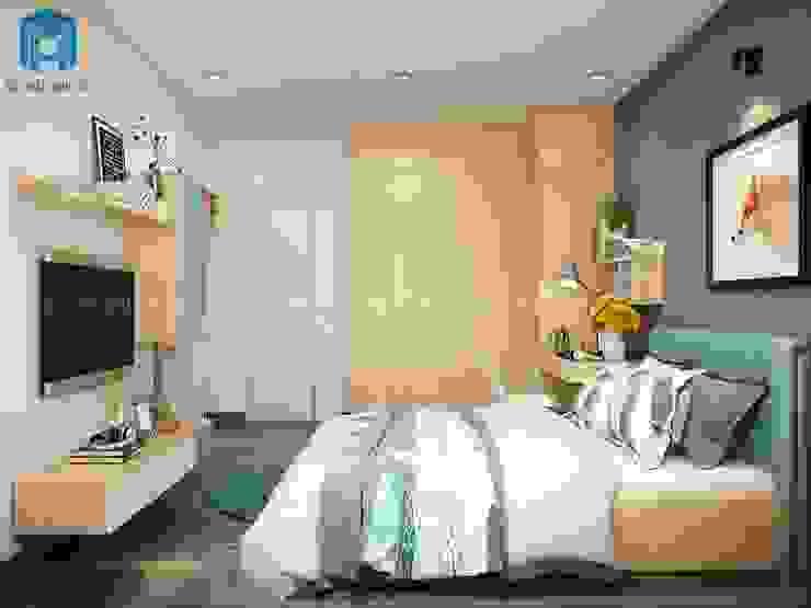 Không gian nội thất phòng ngủ đẹp đơn giản Phòng ngủ phong cách hiện đại bởi Công ty TNHH Nội Thất Mạnh Hệ Hiện đại