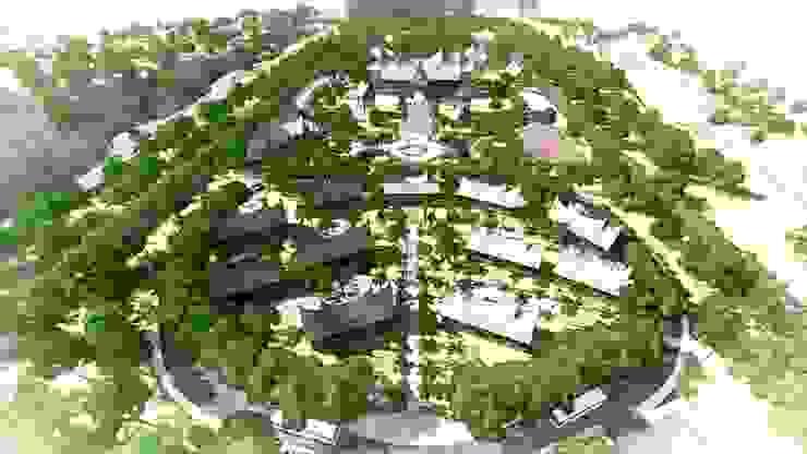 Kawasan Wisata Adat Minangkabau Ruang Komersial Gaya Asia Oleh Bengkel Tanaman Asia