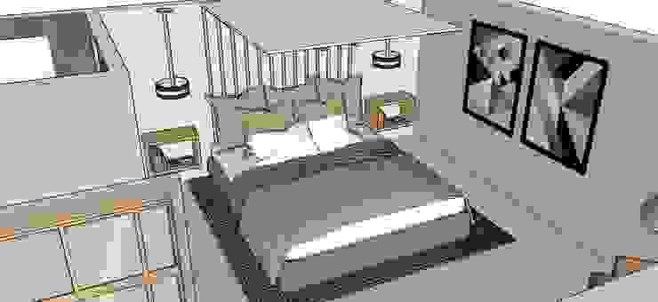 Frazione di appartamento Camera da letto moderna di Antonella Petrangeli Moderno
