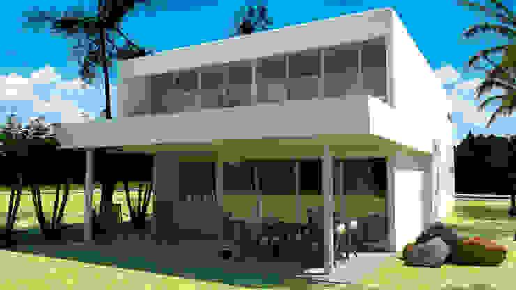 FACHADA POSTERIOR Casas modernas de CAMark projects Moderno