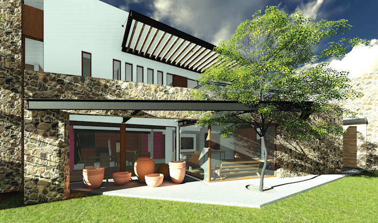 Eclectic style houses by Taller de Materia Arquitectónica Eclectic