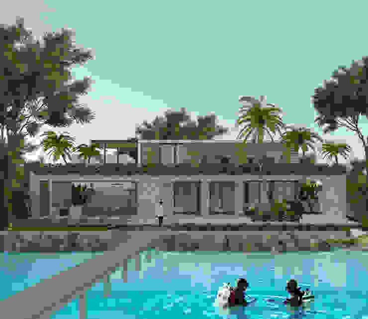 Casa Mara – Bacalar, Quintana Roo. de Obed Clemente Arquitecto Tropical Concreto