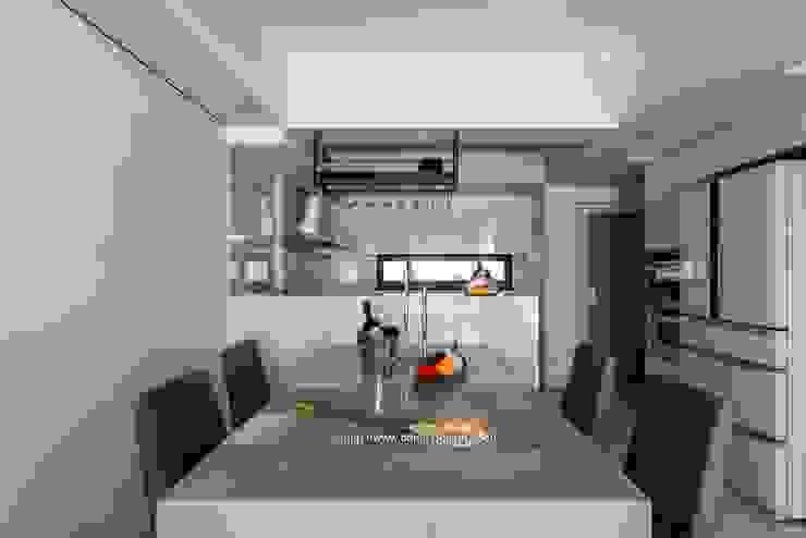 餐廳 根據 鼎士達室內裝修企劃 日式風、東方風 大理石