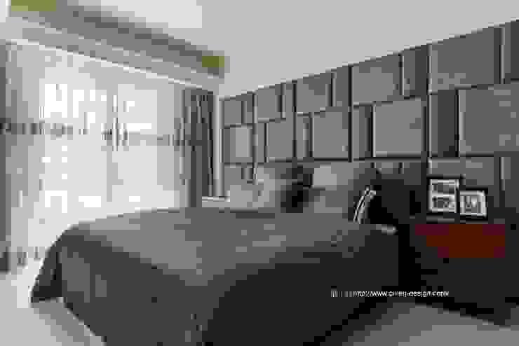 主臥室 根據 鼎士達室內裝修企劃 日式風、東方風 實木 Multicolored