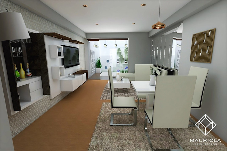 Modern Dining Room by Mauriola Arquitectos Modern Silver/Gold