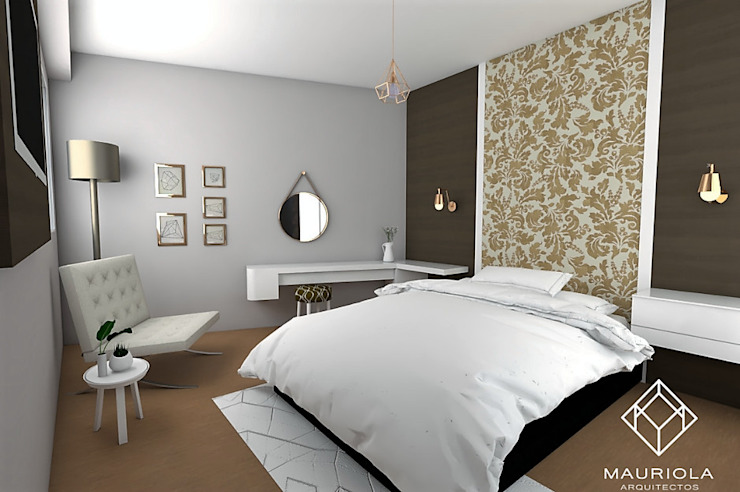 Modern style bedroom by Mauriola Arquitectos Modern Silver/Gold