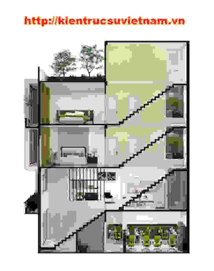 Công trình nhà ống 5 tầng hiện đại Mr Duy Thủ Đức bởi Việt Architect Group