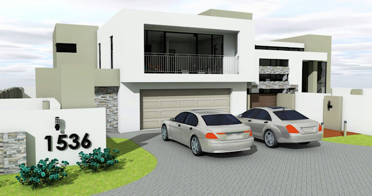 Double garage Modern houses by homify Modern