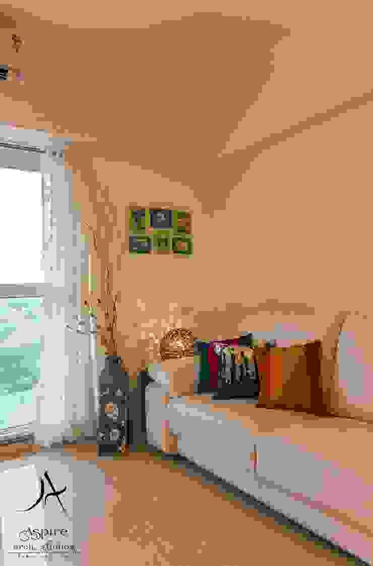 Aspire Arch Studios Livings de estilo minimalista Contrachapado Blanco