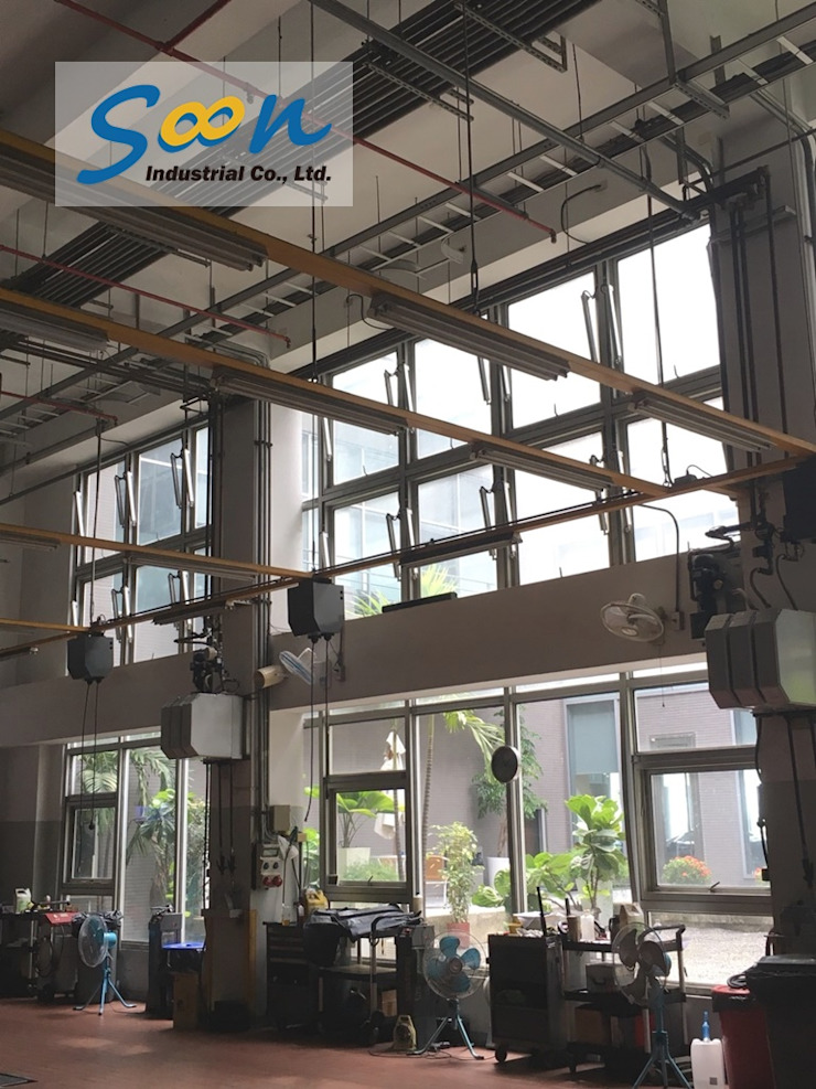 Automatic Outward Opening Window In Big Automobile Maintenance Plant - photo 1 Soon Industrial Co., Ltd. Car Dealerships Aluminium/Zinc Grey