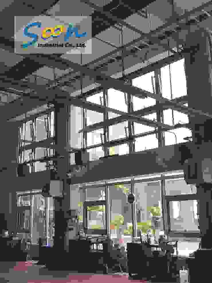 Automatic Outward Opening Window In Big Automobile Maintenance Plant - photo 1 Soon Industrial Co., Ltd. 汽車交易商 鋁箔/鋅 Grey