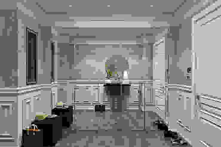 Американская классика на Нижне-Каменской FISHEYE Architecture & Design Коридор, прихожая и лестница в классическом стиле