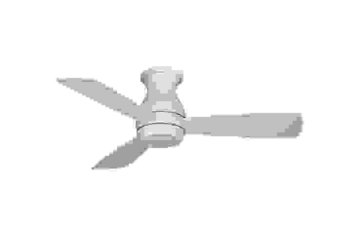 CASA BRUNO Hugh Hugger ventilador de techo Ø 112 cm con/sin luz, blanco mate, para zonas mojadas de Casa Bruno American Home Decor Escandinavo