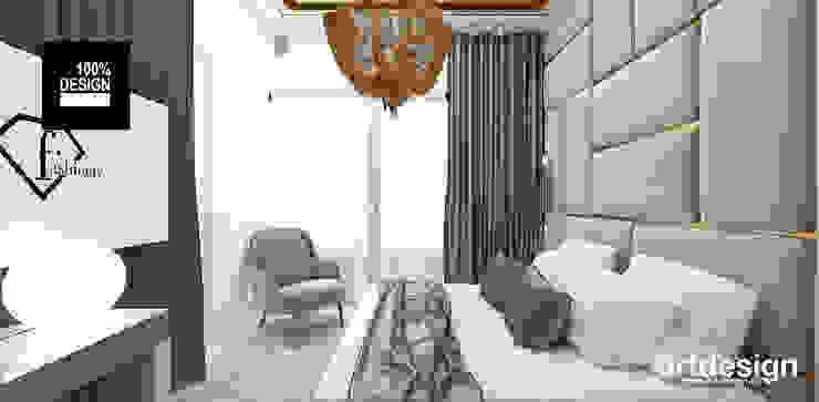 LIKE CHALK AND CHEESE | Wnętrza apartamentu ARTDESIGN architektura wnętrz Nowoczesna sypialnia