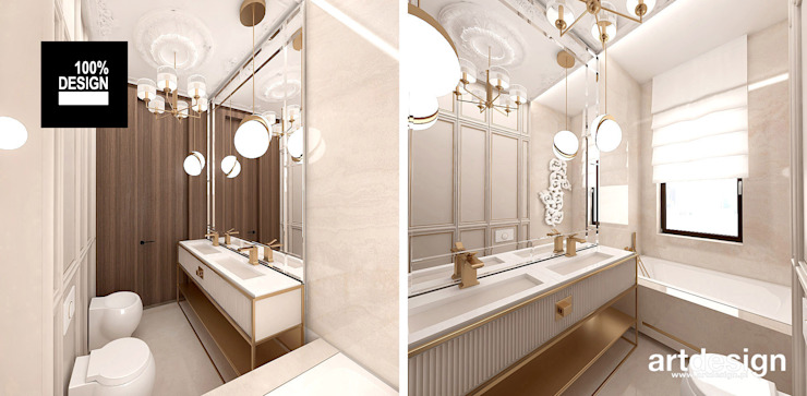 Modern Bathroom by ARTDESIGN architektura wnętrz Modern
