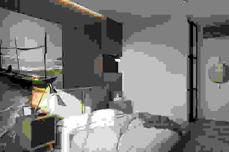 Minimalist bedroom by FISHEYE Architecture & Design Minimalist