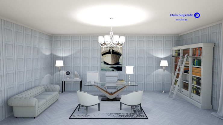 Office in Art Deco style by 'Design studio S-8' Classic