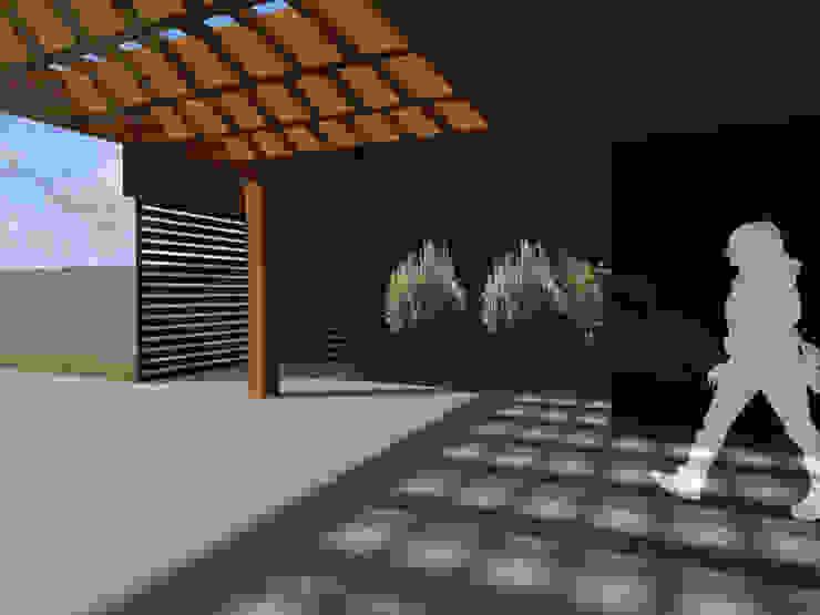 REMODELACION VIVIENDA URBANA de Vicente Espinoza M. - Arquitecto Rústico