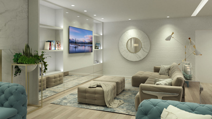 クラシックデザインの リビング の Glim - Design de Interiores クラシック