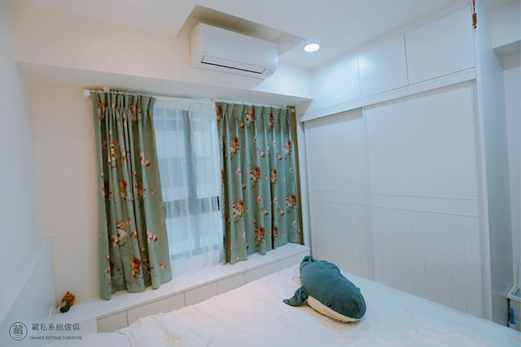 主臥室鄉村風大衣櫃 藏私系統傢俱 臥室 塑木複合材料 White