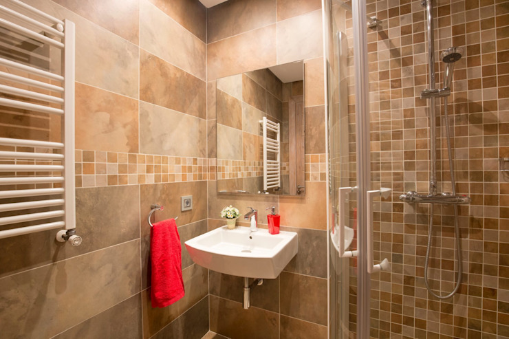 Baño con ducha Baños de estilo mediterráneo de Diego Cuttone, arquitectos en Mallorca Mediterráneo