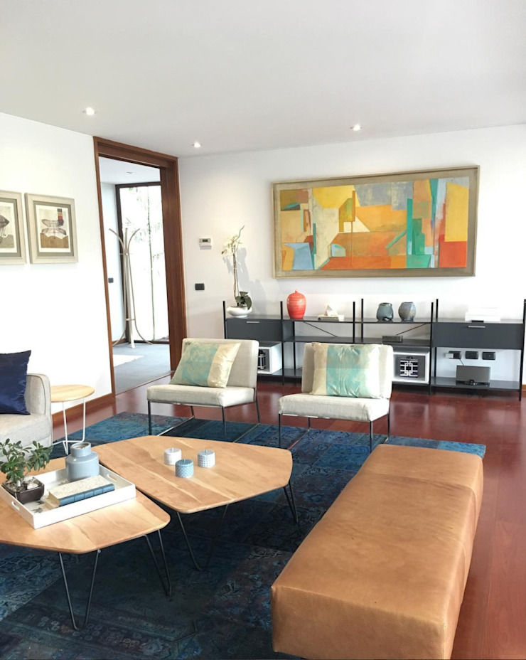 Vista General living Livings de estilo moderno de Moon Design Moderno