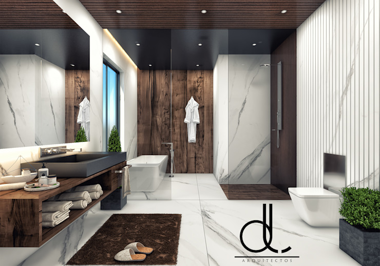 LD ARQUITECTOS ห้องน้ำ หินอ่อน White