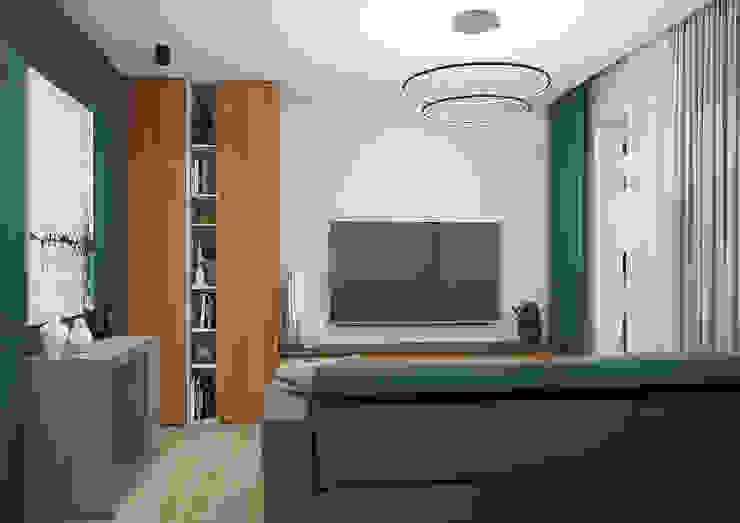 Modern Living Room by Дизайн Студия 33 Modern