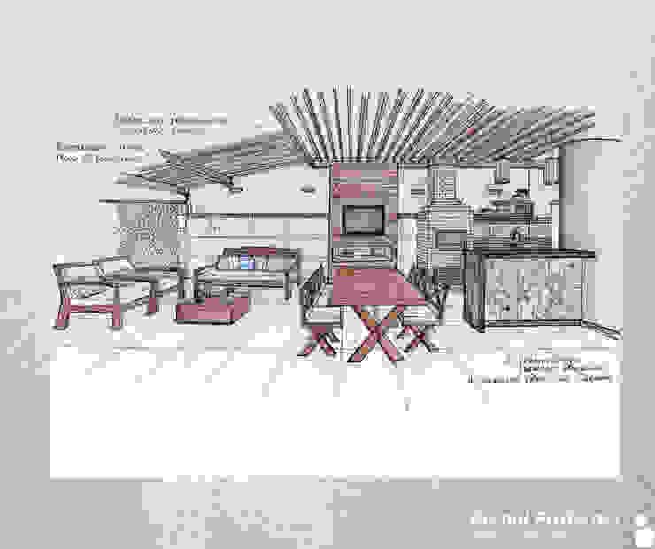 Estudo para espaço gourmet por Bernal Projetos - Arquitetos em Salvador Rústico