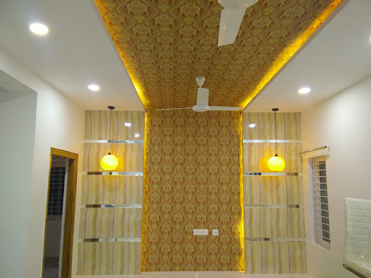 Mr Ravi Kumar PVR Meadows 3BHK Villa Enrich Interiors & Decors Corridor, hallway & stairs Lighting